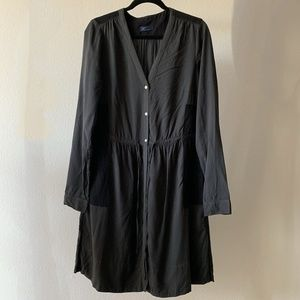 GAP Colorblock Black / Charcoal Shirt Dress